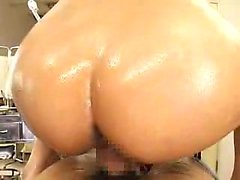 Buxom Oriental masseuse with glasses knows her way around a