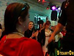 Cfnm party teen sucks bbc