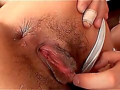 Pussy wet Asian hookers sucks and fucks two big horny cocks