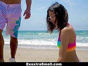 ExxxtraSmall - Cutie Fucked in Rainbow Swimsuit
