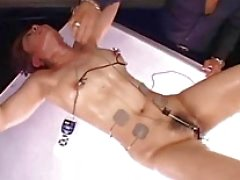 Amateur japanese slaves electro bdsm and extreme wooden rack