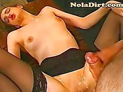 Bukkake Whore Eats Cum Sucks Dick