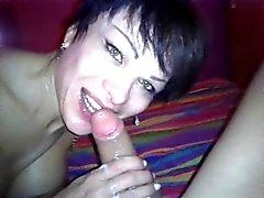return Deborah with great blowjob deep throat cum face mouth