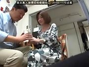 Tiny asian fingering under white panties