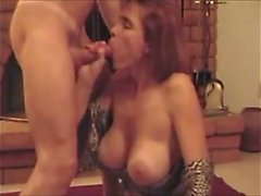 Hotwife with huge fake breasts cum Eura from dates25com