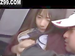 cute schoolgirl fucked on bus