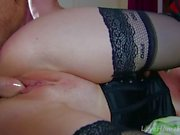 Blonde Beauty Chokes On Big Hard Cock