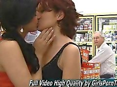 Rita and Madeline get horny in wall mart
