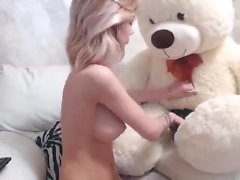 Hot amateur naked teen toys her pussy