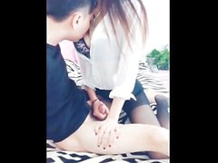 Hot Chinese Lady Overflowing Doggy Creampie