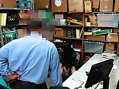 Teen shoplifter spunked