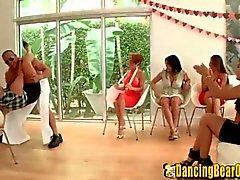 Amateur Girls Sucking Stripper Cocks at the Shower