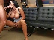 Horny boss fucking his busty secretary