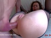 Rough ass to throat fuck and gagging for cute babe. Mia Bandini