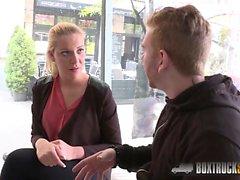 Hot Vivien Blonde gives a blowjob