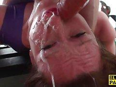 Amateur brunette gets her pussy drilled