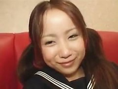 Japanese tugging beauty in awesome pov