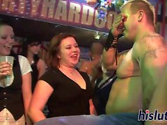 Foxy hotties get nailed in the club