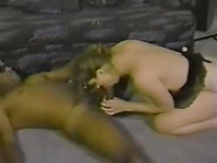 Bright MILF interracial fuck and large breasts