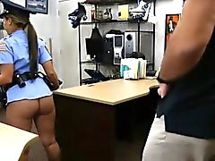 Ms police officer with big boobs pounded by pawn dude
