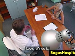 Amateur euro pussyfucked in doctors office