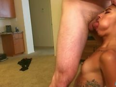 Small Tits 18 Yr old gets 1st Rough Throatfuck w/ Huge Facial FULL SHOOT