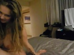 Amateur POV with big boob chick