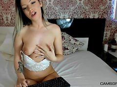 Lustful Amateur Blonde Shows It All And Masturbates On Cam