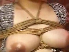 Big tit pregnant wife gets tied up and has to suck and fuck