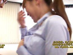 Japanese babe with huge knockers enjoys hardcore fun