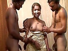 Petite indian Sonia gangbanged by sex toys
