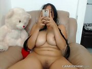Magnificent Blackhaired Is Pleasured In A Solo Homemade Act