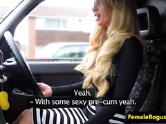 English milf rides black cock in her taxi
