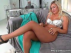 Stunning curvy blonde enjoys fucking part6