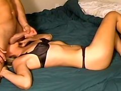 Gorgeous blonde amateur gets stuffed by a big dick