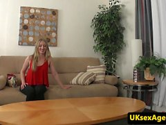 Office amateur pussyfucked in a sexaudition