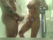 Real German Couple Caught Fuck in Shower by Hidden Cam