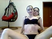Hot amateur lesbian teen on webcam stripping