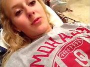 Sexy Tispy Blonde Teen Twerks For CAM