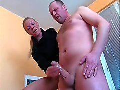Mature MILF and a nude man