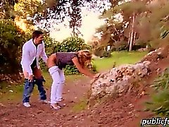 Blonde latina sucks and pounded in pov