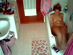 Spy My wife and her relaxing bath