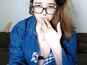Amateur Teen Fucks Her Ass On Webcam