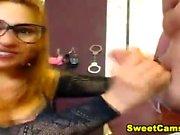 Redhead amateur nurse toying her pussy