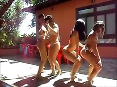 hot team bikini tanga dance