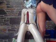 Amateur teen girlfriend toys her ass
