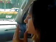 Elizabeth Douglas newport 100s cigarette in her mom car