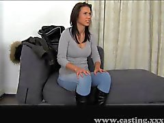 Casting - Skinny babe with perfect body