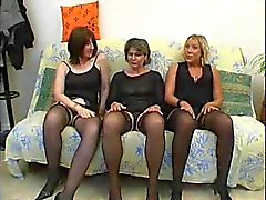Three horny ladies join an orgy