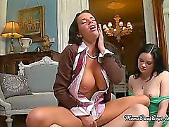 Lovely Hot Mama Cheers For Her Bitch Banged Teen
